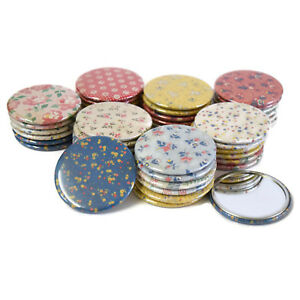 Pocket-Mirrors-Wholesale-Lot-x-44-Shabby-Floral-Patterns-girls-party-favour-gift
