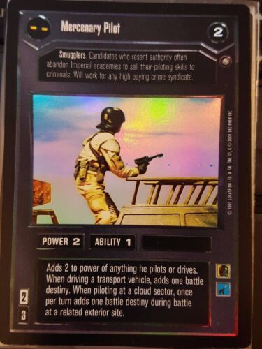 Star Wars CCG Reflections III Mercenary Pilot FOIL NM-MT SWCCG