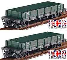 2, A PAIR G SCALE RAILWAY FLAT BED TRUCK GREEN FREIGHT GARDEN TRAIN LGB BACHMANN