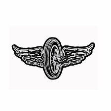 Biker Chopper Moto FLYING WHEEL Wings PNEUMATICI ala aufbügler ricamate patch