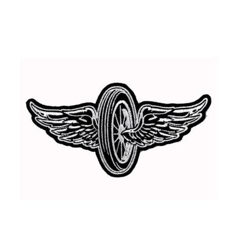 Biker Chopper Moto FLYING WHEEL Wings PNEUMATICI ala aufbügler ricamate patch
