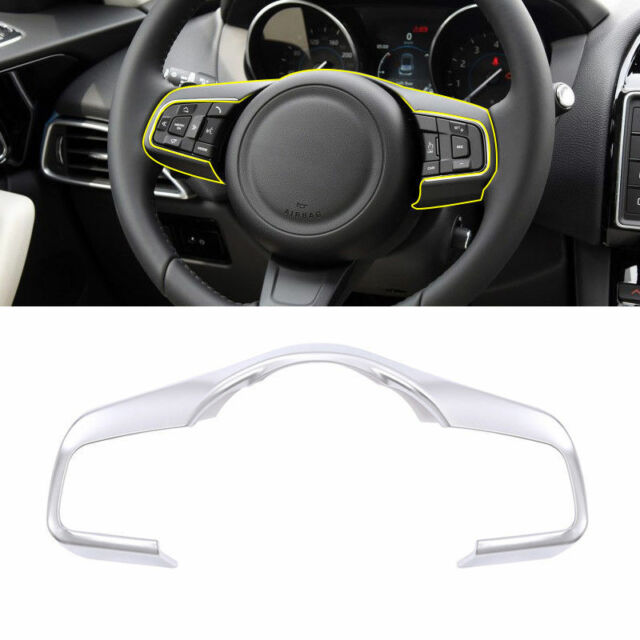 Gloss Black Steering Wheel trim cover ring For Jaguar F-PACE XE XF 16 2017 2018+