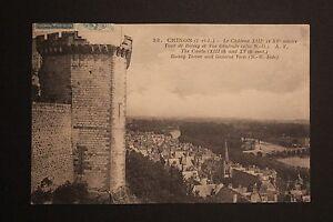 Tarjeta-Postal-Antigua-CPA-Castillo-Chinon-Torre-De-Boissy-Y-Vista-General