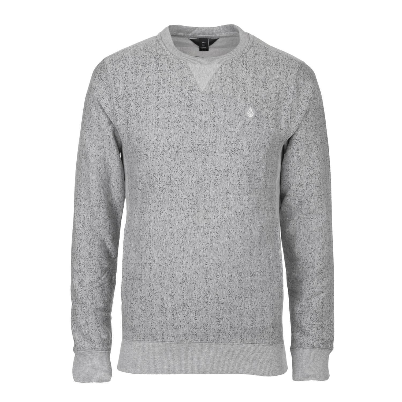 Volcom Static Stone Crew Pullover Grau - Herren Rundhals Sweatshirt grau