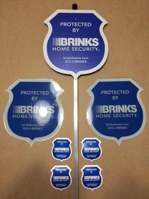 8 NEW SECURITY DOUBLE-SIDED STICKERS Waterproof /& UV Resistant  NO SIGN