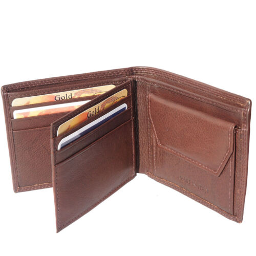 Kartensteckplätze Geldbörse Leder in Hand in Italien PF149 db Brieftaschen