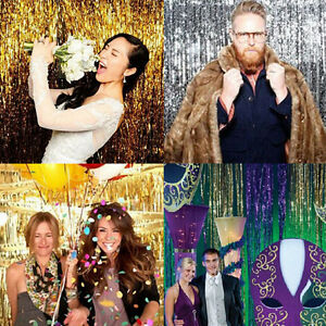 Foil party door curtain tinsel shimmer birthday wedding decorations image is loading foil party door curtain tinsel shimmer birthday wedding junglespirit Images