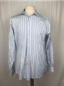 Charles-Tyrwhitt-Shirt-Mens-Large-Dress-Casual-Striped-Cotton-Long-Sleeve-White