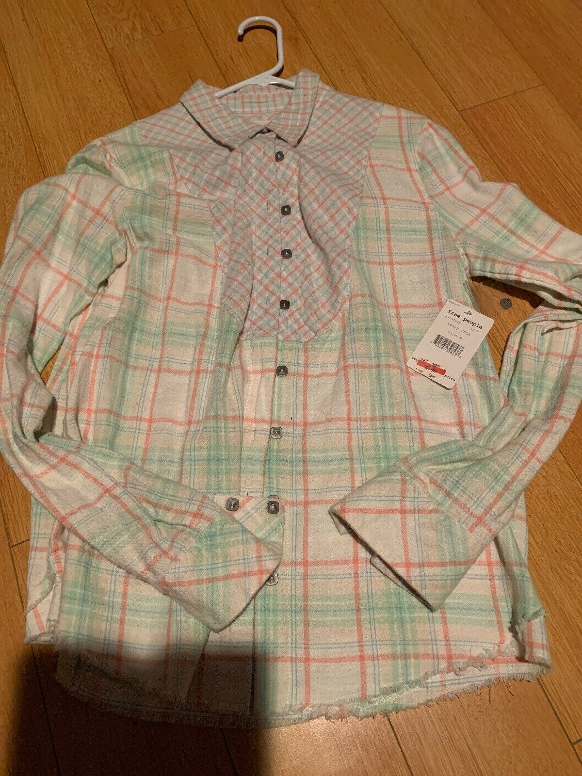 Ivory Comb Free People Flannel, Long Sleeve, Never Worn ( With Tags ) Größe S