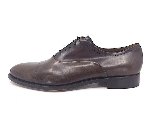 Franceschetti Men's shoes 44.5   US 11.5 Oxford Plain Toe Lace-Up Brown Leather