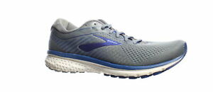 Brooks-Mens-Ghost-12-Grey-Alloy-Blue-Running-Shoes-Size-10-1432906