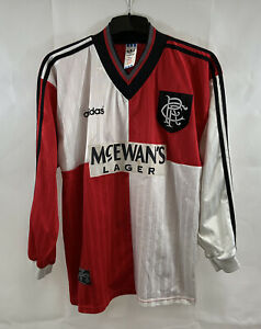 Rangers Player Issue L/S Away Football Shirt 1995/96 Adults XL Adidas A616