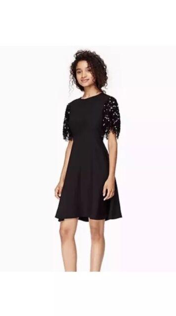 f2a7bc5c66 Kate Spade Sequin Fringe Black Swing Dress Size 2 Njmu7004 for sale ...