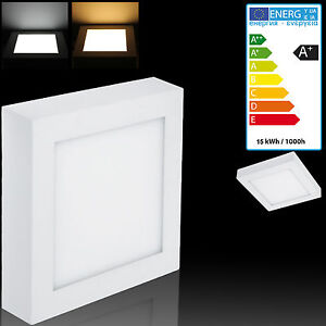 led 12w aufputz aufbau deckenlampe leuchte panel flach eckig wandlampe ebay. Black Bedroom Furniture Sets. Home Design Ideas