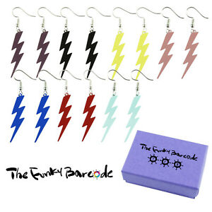 TFB-LIGHTENING-BOLT-DANGLE-EARRINGS-Funky-Punk-Rock-Kitsch-Quirky-Retro-Cool