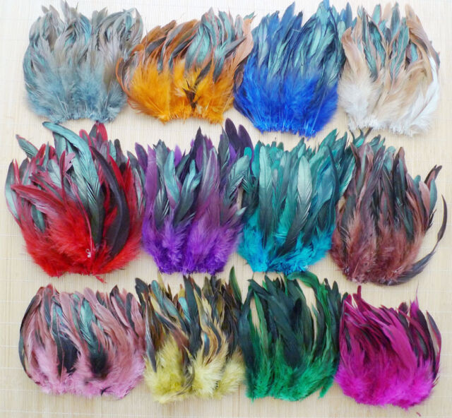 5-8inch/13-20cm 50-100 pcs Beautiful Rooster Tail Feather 13 Colors