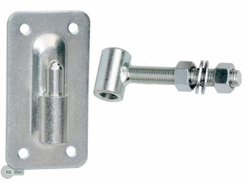 Torangel einstellbar auf Kugel Ø30 M18 Torscharnier Hängscharnier Anschraubblech