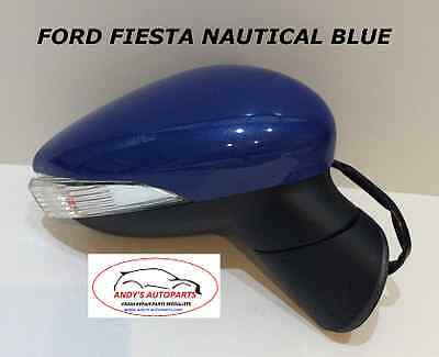 FORD FIESTA 08 ONWARDS  WING MIRROR COVER LH OR RH SIDE IN FORD SPIRIT BLUE
