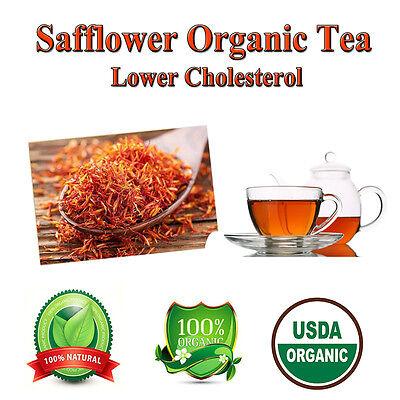 Safflower Carthamus Tinctorius Saffron Diet Tea bags Weight Loss Organic Herbal