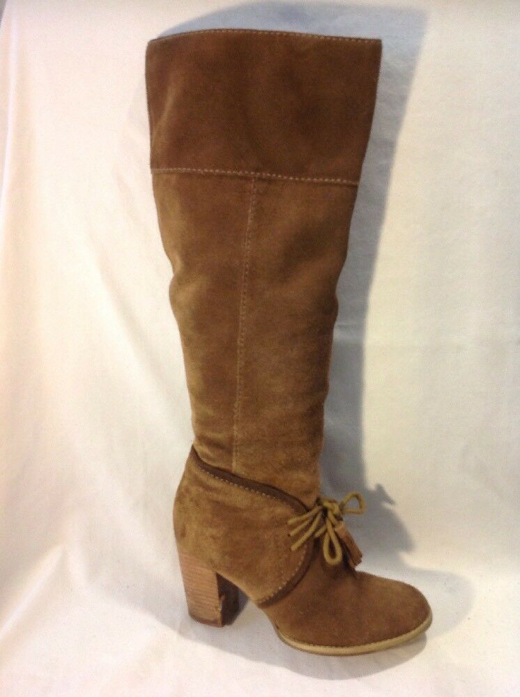 Limited Collection Brown Knee High Suede Boots Size 6