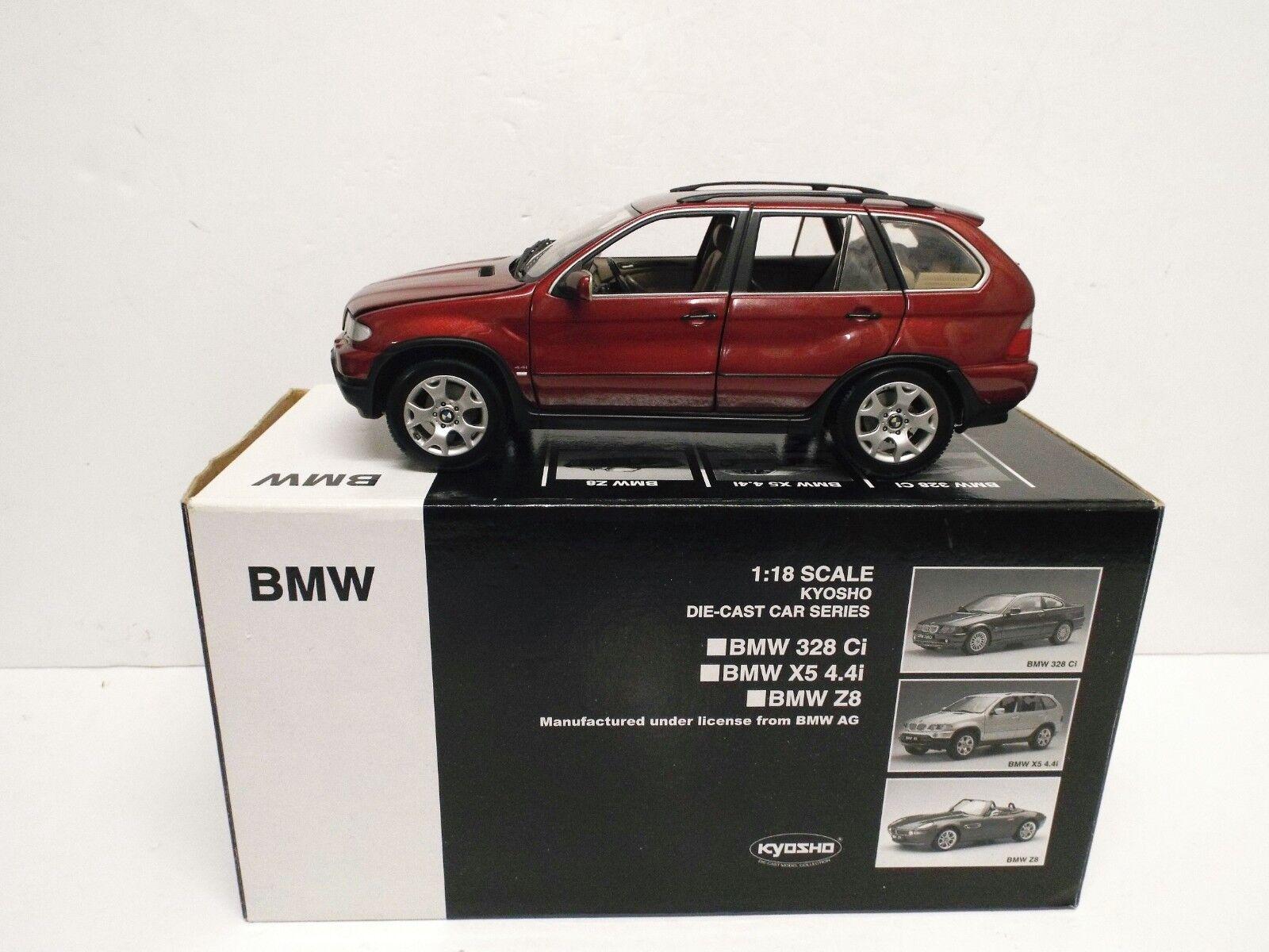 1 18 KYOSHO BMW X5 4X4I Rosso rivenditori modellololo Nuovo di zecca Nuovo di zecca con scatola 1 18 116