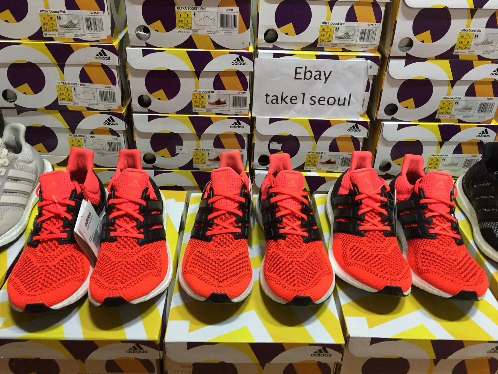 Adidas Ultra Boost Solaire Rouge B34050 US Hommes US Hommes Hommes 7-14 ans