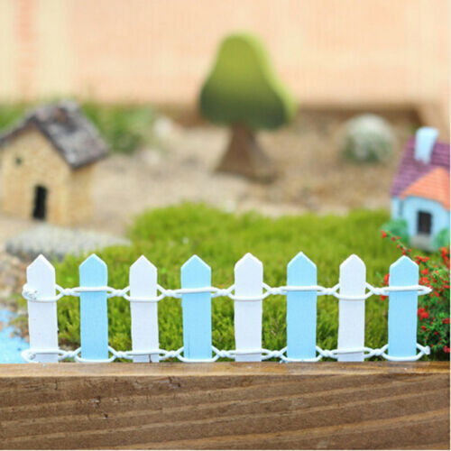 Creative Wooden Palisade Miniature Garden Houses Craft Micro Landscaping Decor Z
