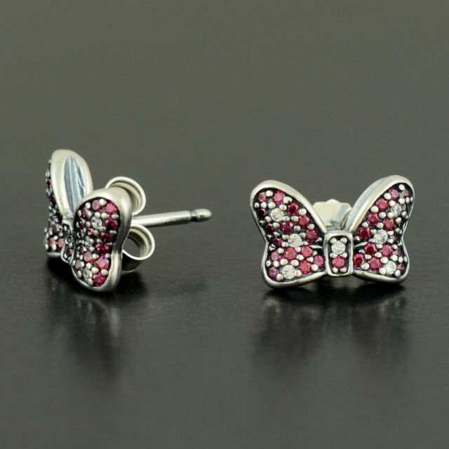 815b9f682 Authentic PANDORA Earrings Disney Minnie's Sparkling 290578czr for ...