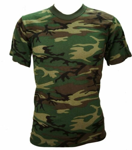 Woodland Camo T-Shirt Army Style T-Shirt Kids  Lot of 3 Pieces Gr8 For Camps