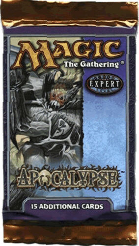Magic Mtg Apocalypse Factory sealed Booster Pack X 3 !