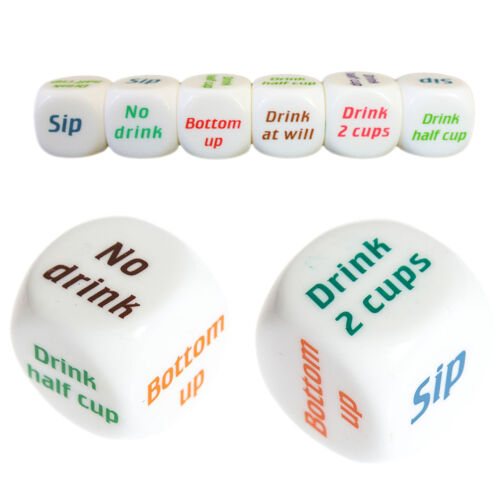 Funny Drink Drinking Decider Dice Games Christmas Bar Party Pub Bar Fun 9H