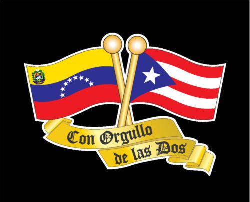 PUERTO RICO /& VENEZUELA  FLAG CAR DECAL STICKER   #273VE