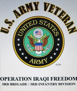 OPERATION IRAQI FREEDOM*3RD BRIGADE / 3RD INFANTRY DIVISION* W/ARMY EMBLEM*SHIRT