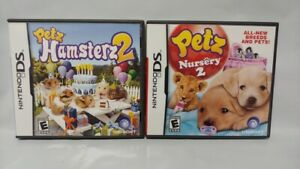 Petz-Hamsterz-2-Petz-Nursery-2-Nintendo-DS-Lite-3DS-2DS-2-Game-Lot-Tested