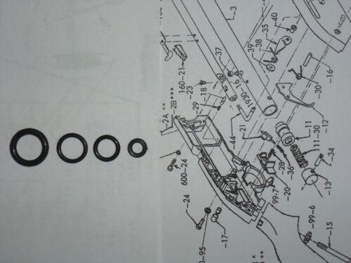 Crosman 760 fusil Pré 1977 Phoque Reboucher Kit Vue éclatée /& E-Z Seal Guide