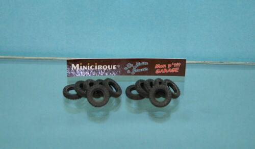 DO7-12 pneus noirs striés pour Dinky Toys England FERRARI RACING CAR N° 242