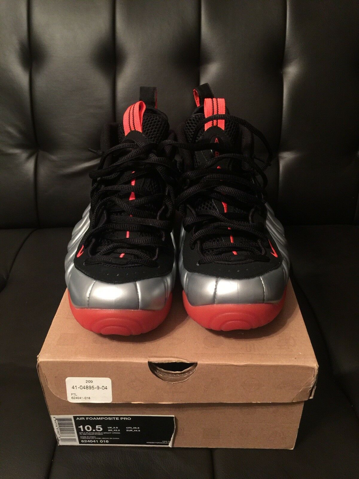 Nike Air Foamposite Crimson Pro Mtlc Platinum Bright Crimson Foamposite Size 11 372a19