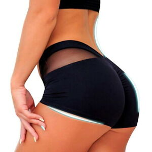 ab6c01f5d4 Details about Sexy Women High Waist Yoga Shorts Mesh Running Workout Slim  Fit Leggings Pants