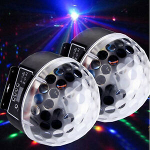 2X Disco Stage Lighting RGB Crystal Magic Ball Effect Light DMX512 Digital LED M