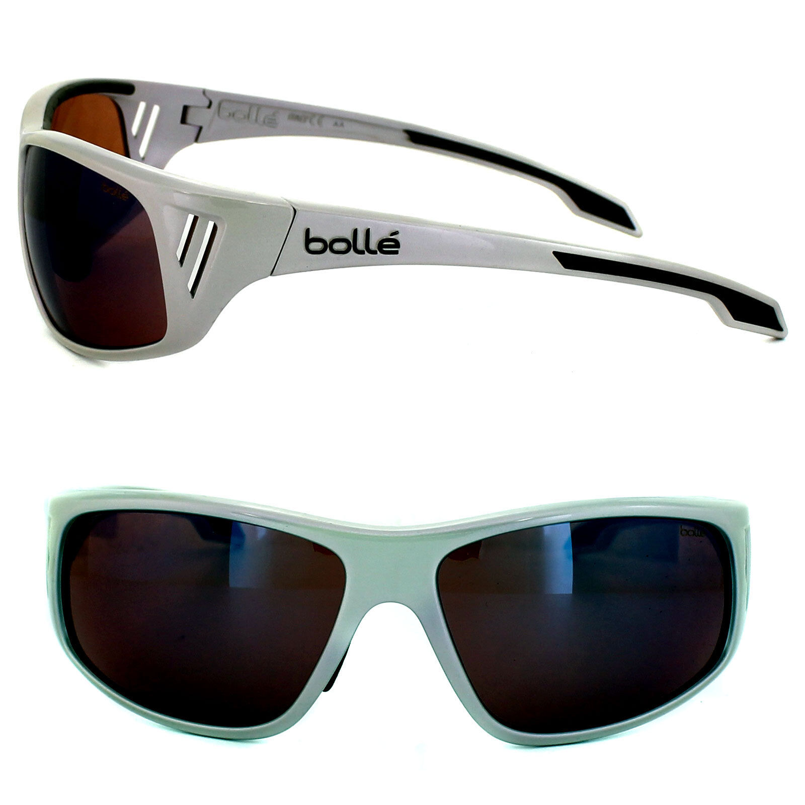 BOLLE Rainier Sunglasses Holographic Silver//NXT Rose Blue AF NEW 11551 Alpine