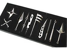 10pcs One Set Metal Toy Sword Naruto Kunai Knife Throwing Set Mini Naruto Weapon
