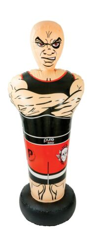 "Free Shipping Pure Boxing Inflatable Free-Standing /""Tough Guy/"" Punching Bag w.."