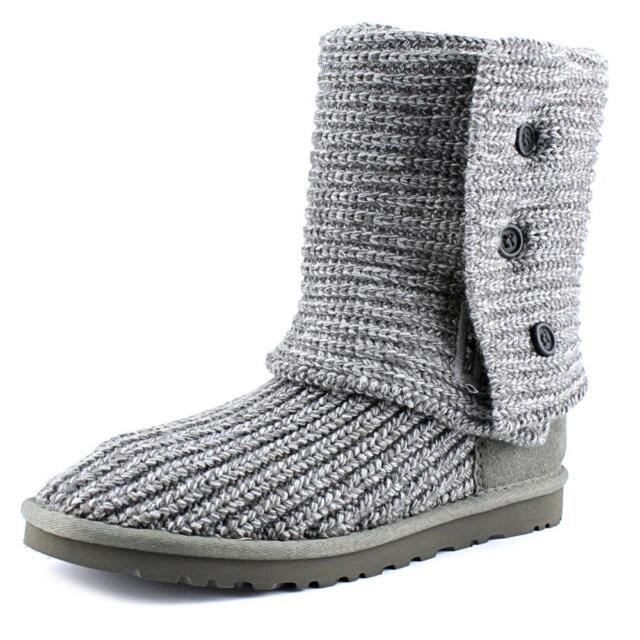 1fbf8056913 Womens UGG Australia Classic Cardy Wool Knit BOOTS Authentic Grey 5819 9