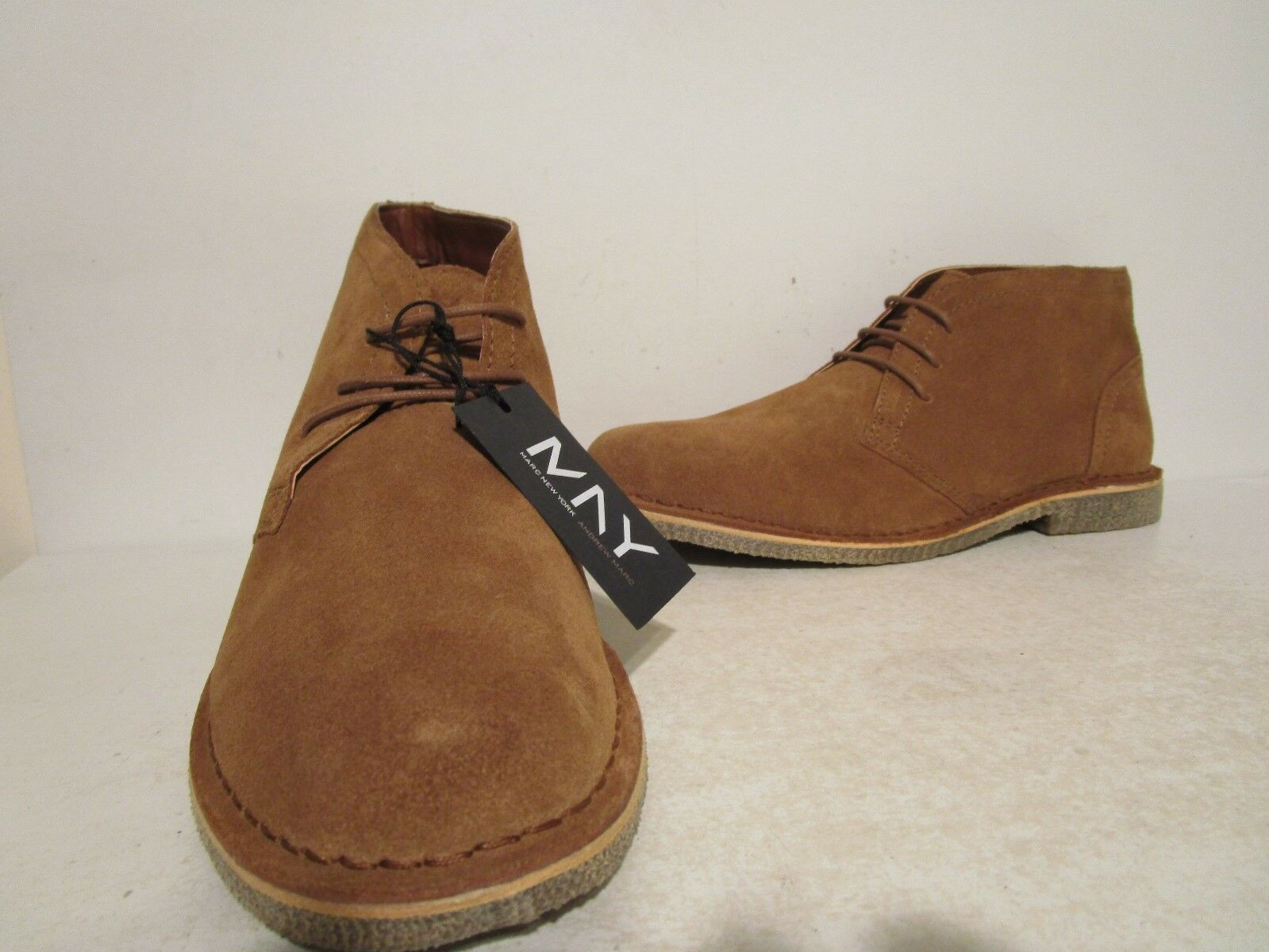 Andrew Marc Mens Walden Suede Ankle Fashion Chukka Boots Elm Tr Honey Size 9 D