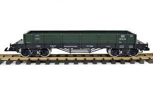 Train-Niederbordwagen-grun-Spur-G-Edelstahrader-Spur-G-Kupplung