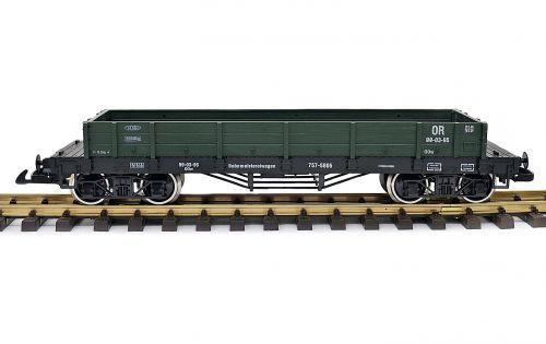 Edelstahräder grün Spur G Spur G Kupplung Train Niederbordwagen