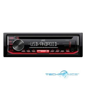 JVC Stereo Car Single DIN In-Dash CD MP3 Car Stereo Receiver Front USB AUX Input