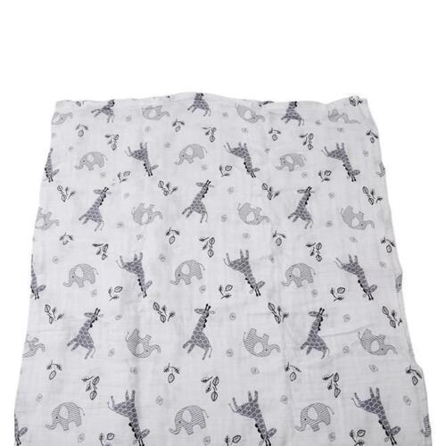 Muslin Swaddle Baby Blanket Cotton WrapsLight Newborn 120 x 120cm C