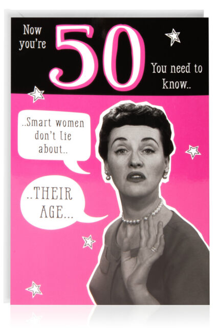 50th female birthday funny humour joke card greetings
