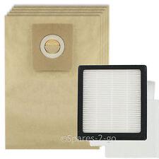 HEPA Filter Pad Kit + 5 Bags for NILFISK GM210 GM310 GM320 GM330 Vacuum Hoover